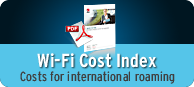 Wi-Fi Cost Index - Costs for international roaming