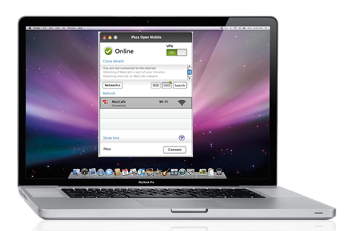 iPass Open Mobile client for Mac laptops