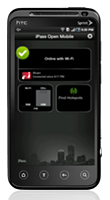 iPass Open Mobile client for Android smartphones - click for larger image