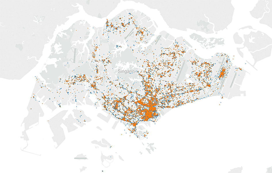 Hotspots gathered to date in Singapore