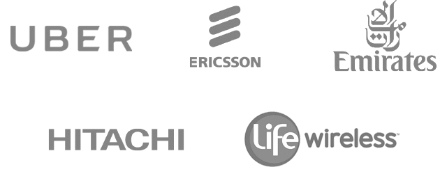 Uber, Ericsson, Emirates, Hitachi, and Life Wireless